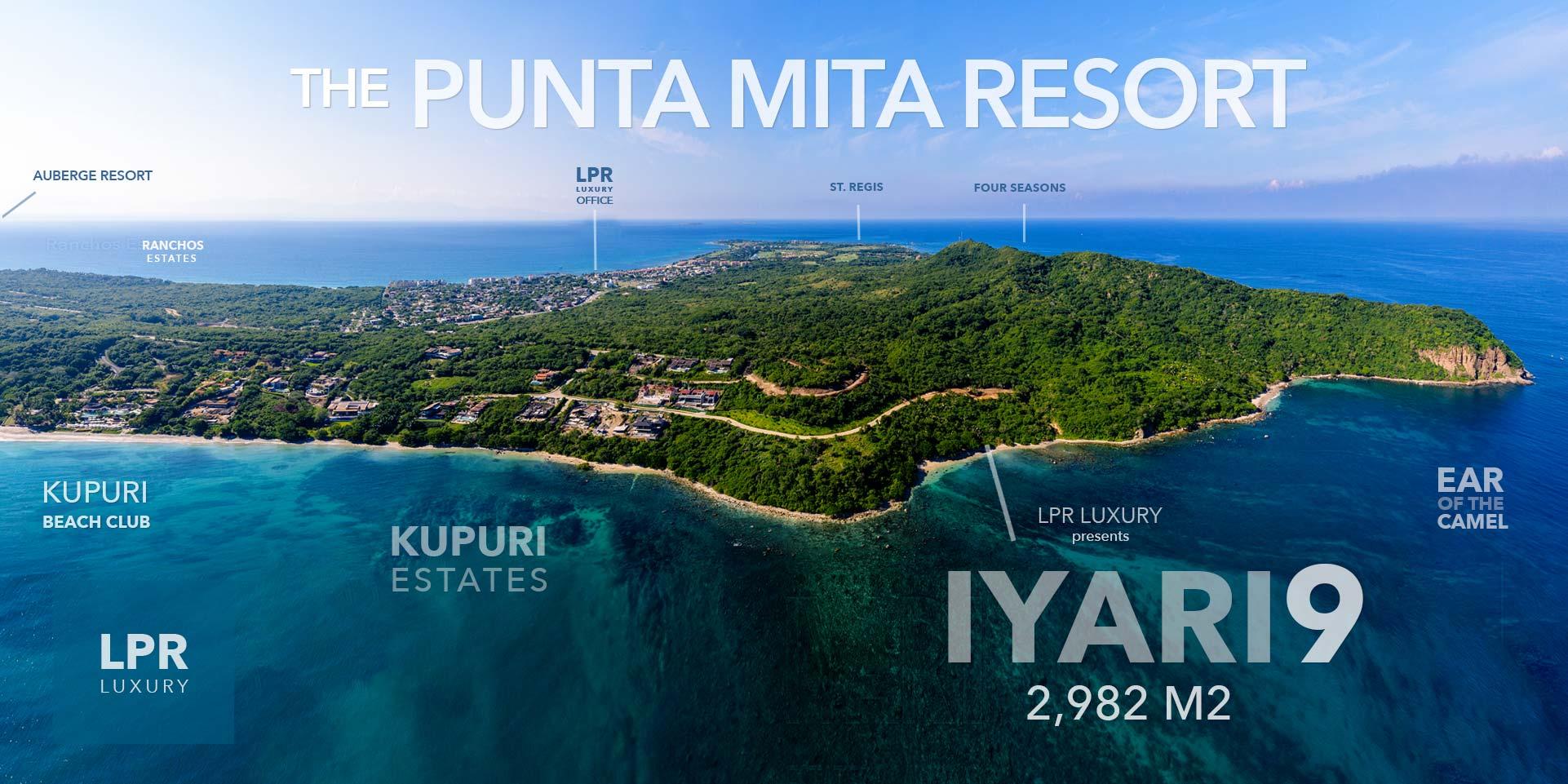 Iyari Estates 9 - Luxury homesite building lot for sale at the Punta Mita Resort, Riviera Nayarit, Mexico