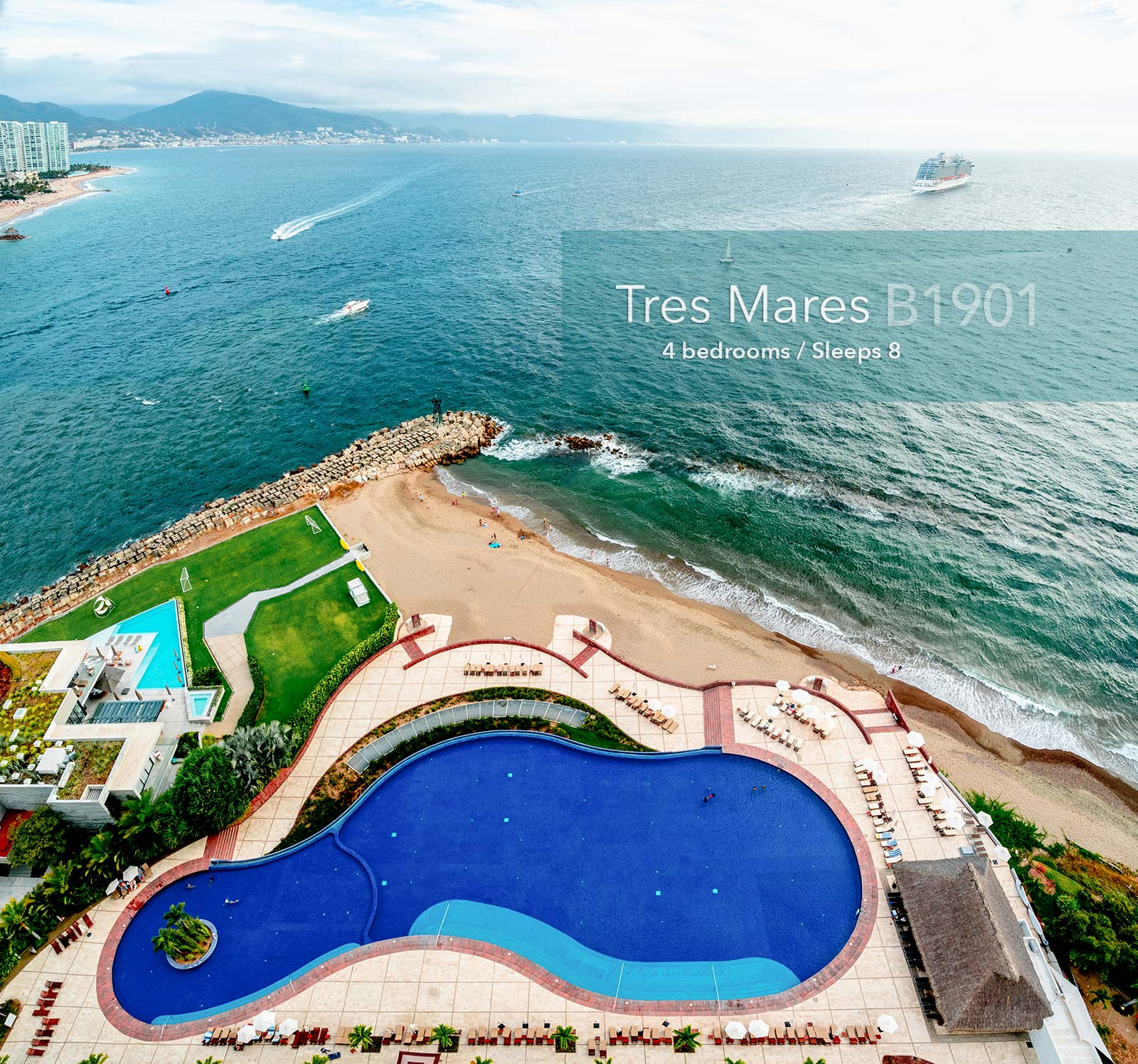Tres Mares - B1901 - Real estate in Marina Vallarta, Puerto Vallarta, Jalisco, Mexico